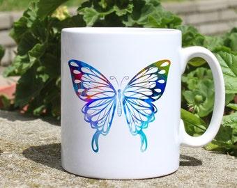 Butterfly mug - Cool mug - Colorful printed mug - Tee mug - Coffee Mug - Gift Idea