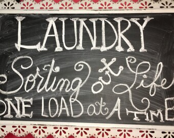 LAUNDRY SIGNS ** Hand Made Chalkboards