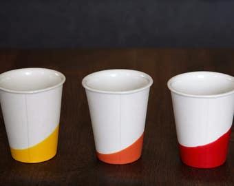 Ceramic Espresso Cups // Colorful Modern Cups // Espresso Cup Set // Bathroom Cups // Peasant Wine Cups // Pour Over Cups // Aeropress