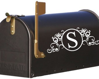 Mailbox Monogram, Mailbox Decal, Personalized Mailbox, Mailbox Numbers, Mailbox Stickers, Address Decal, Mailbox Address, Mailbox Name
