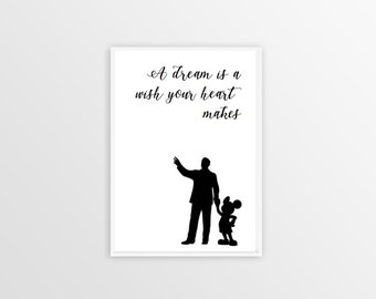 A Dream is a Wish Your Heart Makes - Disney Quote