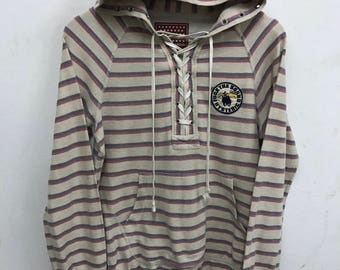 Hysteric Glamour Sweater Hooded Rare Vintage Hysteric Glamour Stripe Sweater Jacket Hysteric Shirt Japan Streetwear Made in Japan Hysteric