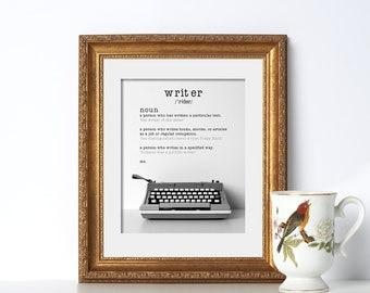 Typewriter Art Word Art Digital Download Printable Art Office Prints Office Decor Modern Decor Writer Gift Teacher Gift Classroom Art Poster