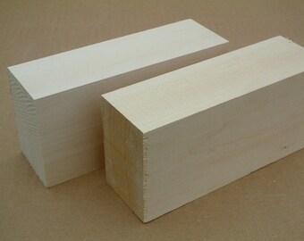"2 x 3 x 5"", 2 Pcs carving wood, bass lumber,Sculpting block, Basswood blocks"