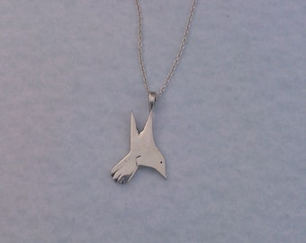 Stylish Bird Necklace in Sterling Silver