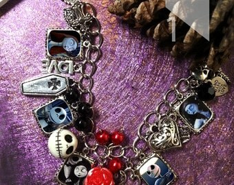 Tim Burton The nightmare before christmas  charm  Bracelet necklace