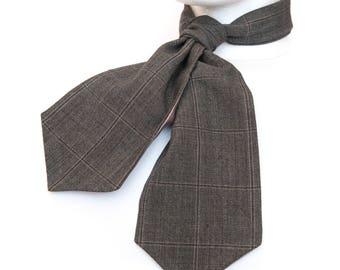 Vintage Wedding, Country Cravat, Groomswear, Groom, City Wedding, Formal Wear, Groomsmen,  Father's Day Gift, Window Pane Check,