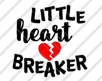 Little Heart Breaker SVG, DXF, png, eps files, for cutting machines Silhouette, Cameo, Cricut, die cut