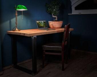 Desk Steve solid wood oak steel frame