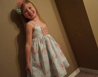 Easter dress, flower girl, easter outfit, flower girl dress, custom dress, girls sundress, party dress, sun dress, custom girls dress