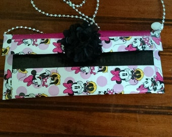 Duck tape purse - Minnie Mouse