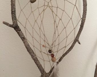 Natural handmade dream catcher