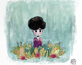 Boy and Nature Print