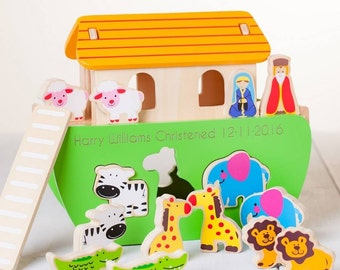 Personalised Wooden Noahs Ark Toy