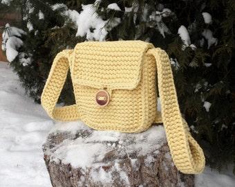 Handmade yellow Bag (Twain and Wood)