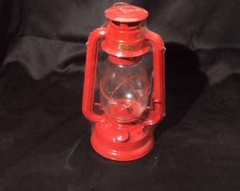 Vintage Red Kerosene Lanterns in Original Box