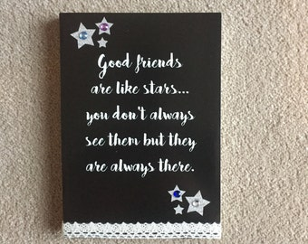 Handmade good friends csnvas