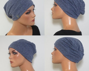 Cool BEANIE/Hat light and airy blue jeans fashionably practical convenient