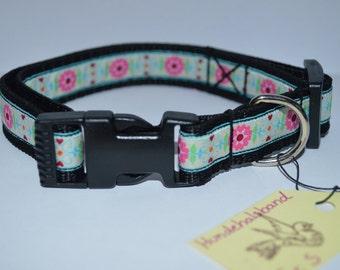 Collar design 'Flowers' bright handmade adjustable 20 mm manufactured,