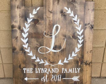 Customized Wedding Sign