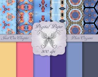 Digital Decorative Paper Pretty Pink N Blue