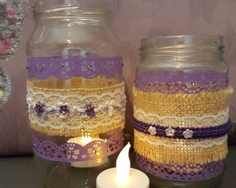 Jar Tealights with Battery LED Candle