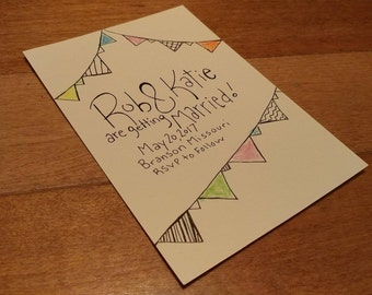 Save the Date- Pennant Theme