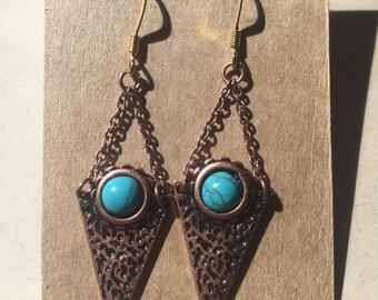 Triangle Point Earrings