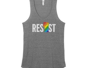 LGBTQ Resist Shirt | Women's Tank Top | LGBT Shirt | Gay Pride Tank Top | LGBTQ Pride Shirt | Resistance Shirt | Resist Tank Top