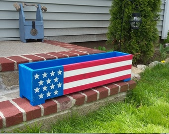 Hand crafted Patriotic Planter Box