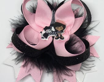 Paris Hair Bow, Paris, Hair Bow, Paris Acessories