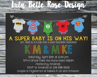 Superhero Baby Shower Invitation, Super baby shower invitation, super baby invitation, superhero baby shower