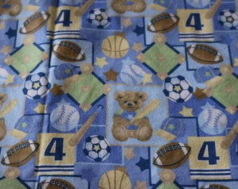 6 Vintage flannel Baseball Pattern SO CUTE