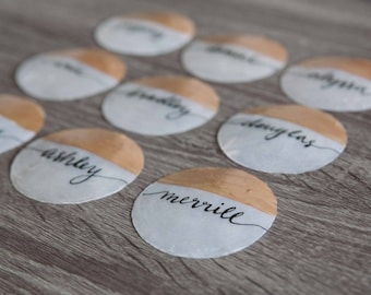 Custom Capiz Shell Place Cards