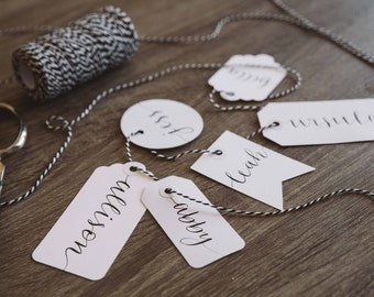 Custom Calligraphy Place Card /Tag