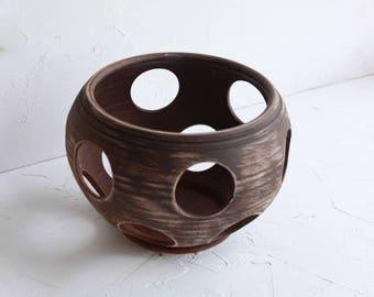 Ceramic orchid pot, pottery, rustic pot, stoneware, orchid planter , rustic orchid pot, clay pot, eco friendly, large ceramic pot for orchid