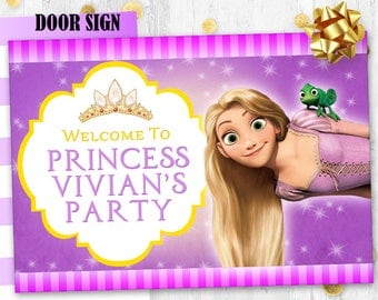Rapunzel Door sign Birthday sign Tangled decoration Digital printable door sign