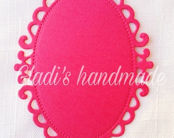 40 colored beaded oval picture frames