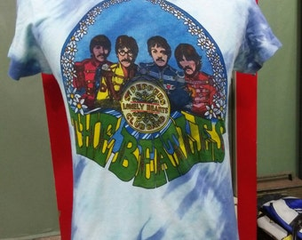 Vintage the beatles lonely hearts tee dye 1970s