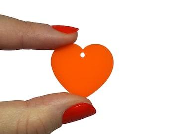 Cute heart jewellery supplies X5, Hearts cute bijoux, Heart pendant, Heart charms, Hearts earrings, Heart lasercut wood plexiglas - SET 5pz