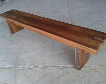Solid Hardwood Slab Bench