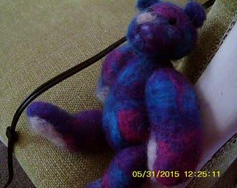 Disco (the needle felted miniature teddy bear)