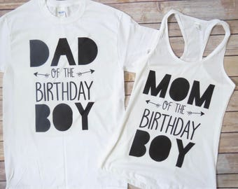 Mom and Dad of the Birthday Boy, Matching Shirts, Mom of the Bday Boy, Dad of the Bday Boy, Wild Theme, Boys Birthday, First Birthday