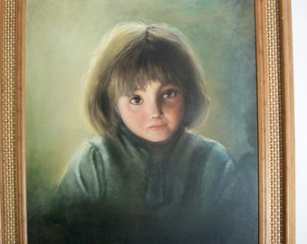 """Portrait on Canvas - Soulful Eyes - by Jeane' Michael """"Have Not"""""""