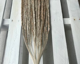 Natural colors / 10 DE double ended dreads in a natural hair color / custom set