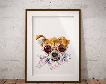 Cute puppy, jack russell puppy, nursery decor, printable art, nursery wall art, puppy, nursery art, digital download, wall decor, room decor