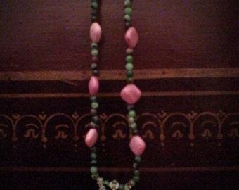 Rhodonite and unakite necklace