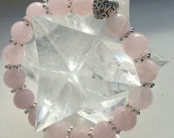 Queen of Self-Love Rose Quartz Healing Crystal Bracelet