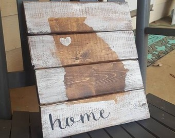Georgia Home Pallet Sign