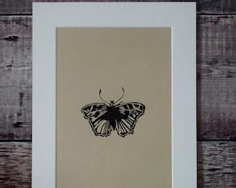 Original lino print: Butterfly